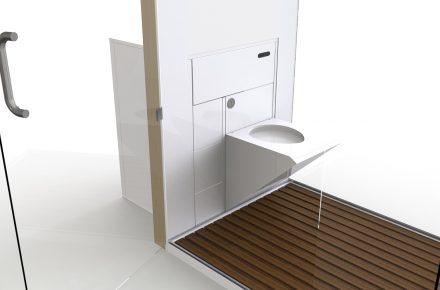 Znikająca łazienka UB od Uniq Bathrooms. Projekt: Carver Partners