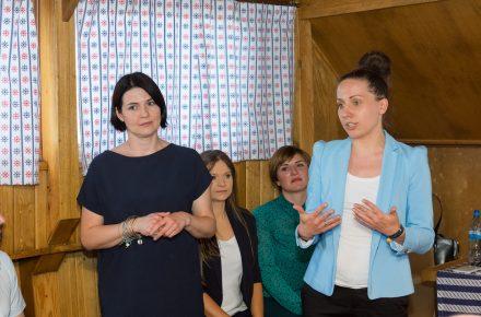 Od lewej: Katarzyna Briks, School of Form i Olga Adamus-Świercz, Cersanit / fot. Cersanit