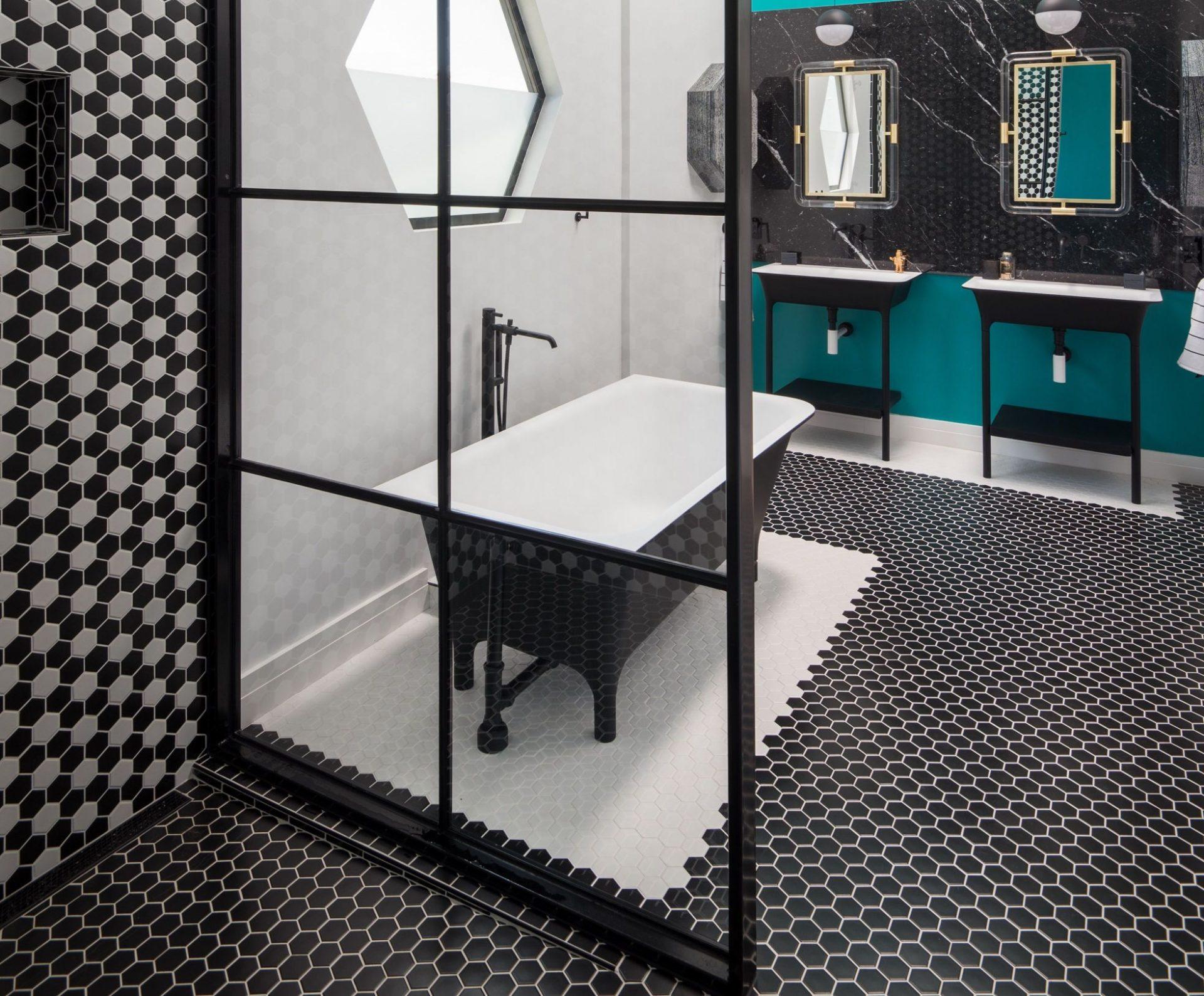 Czerń I Biel Inspiracje Do łazienki Designbiznes