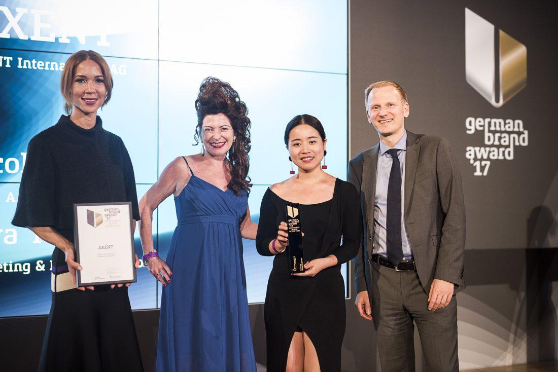 German Brand Award 2017, przedstawiciele marki Axent, fot. Manuel Debus