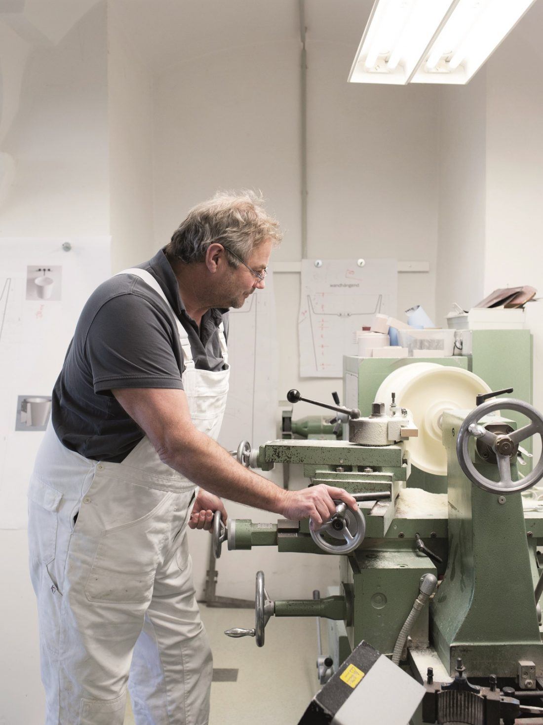 Modele i prototypy produktów tworzonych dla Alape powstają w warsztatach sieger design. Fot. Alape