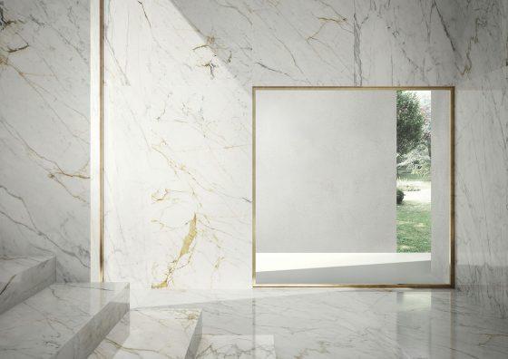 Wielkoformatowe płytki marki Marazzi - Grande Marble Look Golden-White