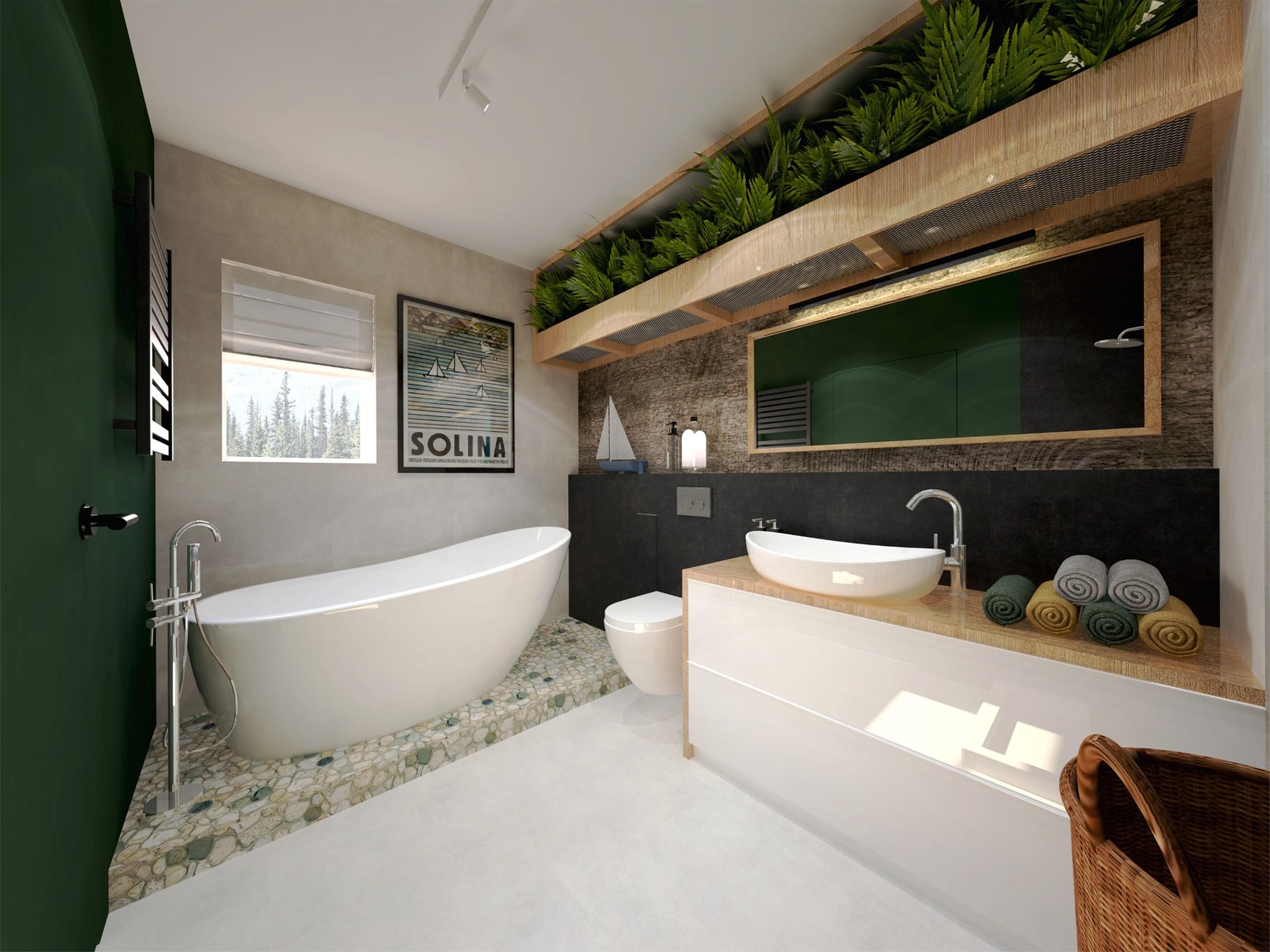 łazienka W Miejskiej Dżungli Wyróżniona W Konkursie Massi